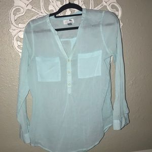 Old navy collared see-through long sleeve.